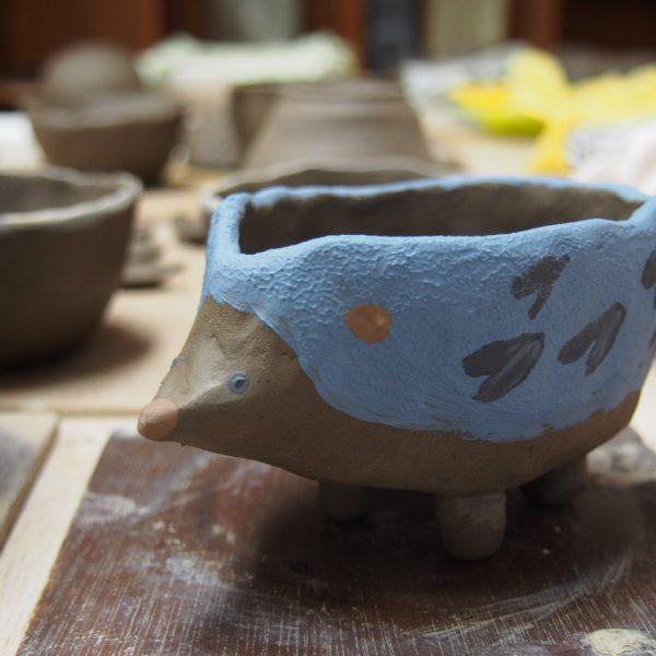 茶道部仲間で陶芸