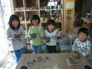沖縄県から帰省中の陶芸体験