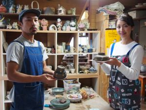 カップルで手ロクロ陶芸体験