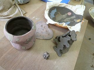親子で陶芸体験です^^