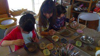 親子で陶芸体験♪