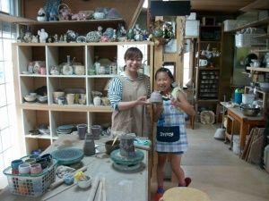 陶芸体験で夏休みの自由工作!